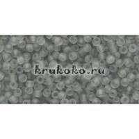 Бисер Toho 11/0 Прозрачный морозный черный бриллиант
