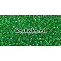Бисер Toho 11/0 Прозрачный зеленая трава