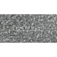 Бисер Toho 11/0 Прозрачный черный бриллиант