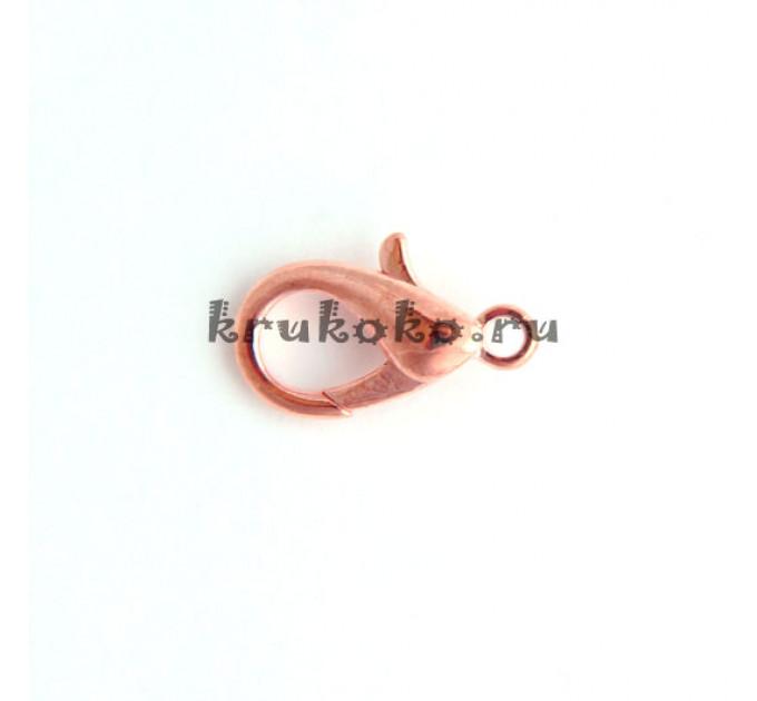 Карабин, 15x9 мм, розовое золото