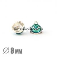 Колпачок-шапочка клеевой Тюльпан, ВД 9мм, эмаль, синий-зеленый