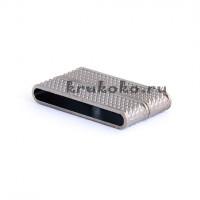 Магнитная застежка плоская, ВД 35x4мм, черная