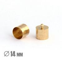 Колпачок-циллиндр, ВД 14мм, латунь