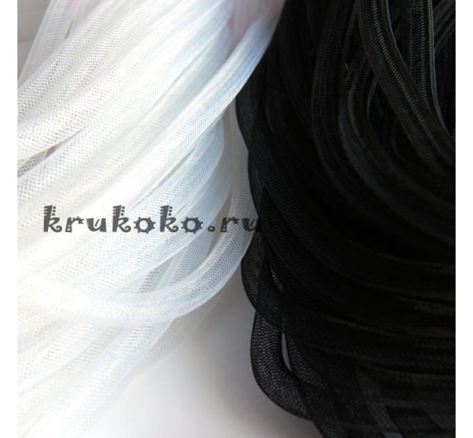 Сетка кринолин, диаметр 8мм, белая (1м)