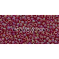 Бисер Toho 11/0 Прозрачный радужный морозный рубин (TR-11-165CF)