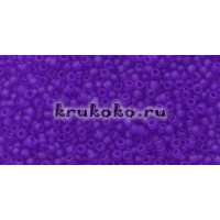 Бисер Toho 15/0 Прозрачный морозный кобальт