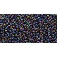 Бисер Preciosa 10/0 №41010 Прозрачный радужный сине-фиолетовый, 1 сорт (50 гр)