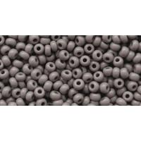 Бисер Preciosa 10/0 №43020 Непрозрачный серый, 1 сорт (50 гр)