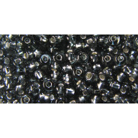Бисер Preciosa 10/0 №47010 Внутреннее серебрение темно-серый, 1 сорт (50 гр)