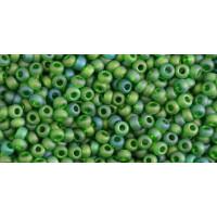 Бисер Preciosa 10/0 №51120M Прозрачный радужный матовый зеленый, 1 сорт (50 гр)