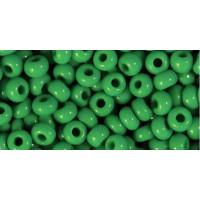 Бисер Preciosa 10/0 №53250 Непрозрачный зеленый, 1 сорт (50 гр)