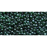 Бисер Preciosa 10/0 №56060 Прозрачный темно-зеленый, 1 сорт (50 гр)