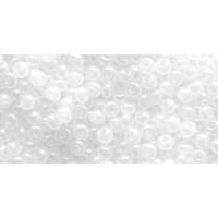 Бисер Preciosa 10/0 №57205 Полупрозрачный алебастр радужный белый, 1 сорт (50 гр)