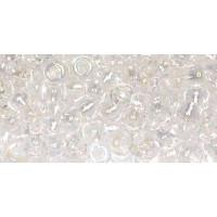 Бисер Preciosa 10/0 №58135 Прозрачный радужный белый, 1 сорт (50 гр)