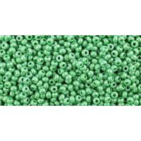 Бисер Preciosa 10/0 №58250 Непрозрачный люстровый зеленая трава, 1 сорт (50 гр)
