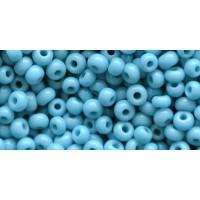 Бисер Preciosa 10/0 №63030 Непрозрачный бирюзово-голубой, 1 сорт (50 гр)