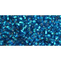 Бисер Preciosa 10/0 №67150 Внутреннее серебрение синий, 1 сорт (50 гр)