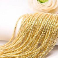 Трунцал зиг-заг, 3 мм, светлое золото (5 гр)