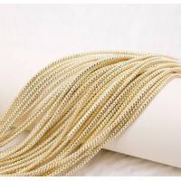 Трунцал зиг-заг, 2,6 мм, светлое золото (5 гр)