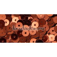 Итальянские плоские пайетки Bronzo Metallizzati, 4мм, 3гр (8171)