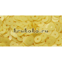 Итальянские плоские пайетки Giallo Limone Opaline, 4мм, 3гр (2134)