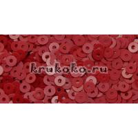 Итальянские плоские пайетки Rosso Vivo Opaline, 3мм, 3гр (4064)
