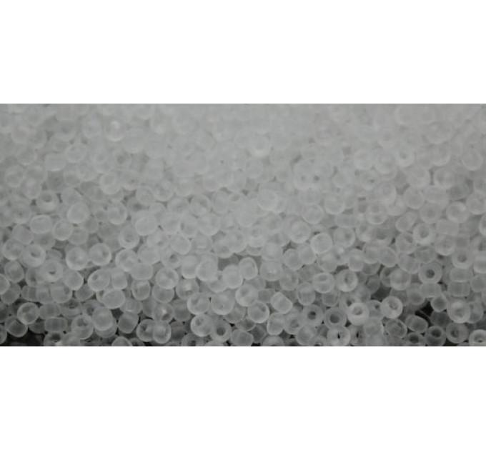 Бисер Preciosa 10/0 №00050M Прозрачный матовый белый, 1 сорт (50 гр)