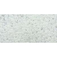 Бисер Preciosa 10/0 №57102 Непрозрачный люстровый белый, 1 сорт (50 гр)