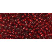 Бисер Preciosa 10/0 №97090 Прозрачный внутренний прокрас вишня, 1 сорт (50 гр)