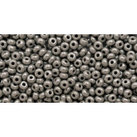 Бисер Preciosa 10/0 №48020 Непрозрачный люстровый серый, 2 сорт (50 гр)