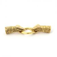 Застежка-колпачок Змей, ВД 8мм, золото