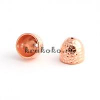 Колпачок-шапочка, ВД 14мм, розовое золото