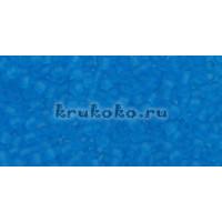 Бисер Toho 11/0 Прозрачный морозный темный аквамарин (TR-11-3CF)