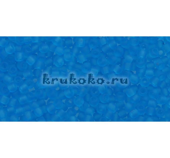 Бисер Toho 11/0 Прозрачный морозный темный аквамарин