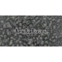 Бисер Toho 11/0 Прозрачный матовый серый