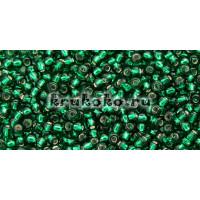 Бисер Toho 11/0 Внутреннее серебрение зеленый изумруд