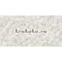 Бисер Miyuki Delica 11/0 Непрозрачный белый мел (DB0200)