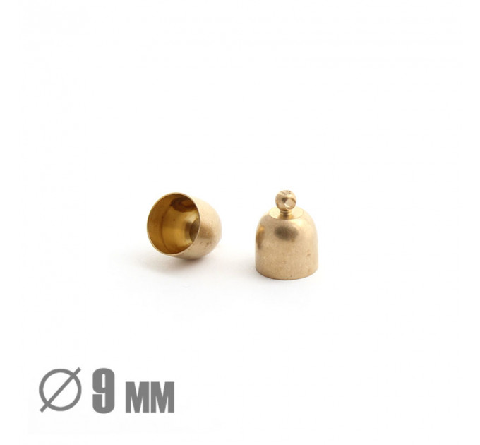 Колпачок клеевой закругленный, ВД 9мм, латунь