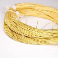 Канитель жесткая, 1 мм, бледное золото (5 гр)