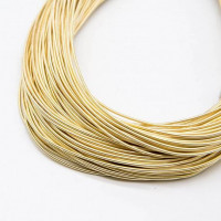 Канитель жесткая, 1,25 мм, бледное золото (5 гр)