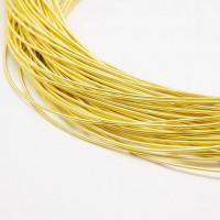 Канитель жесткая, 1 мм, желтая (5 гр)