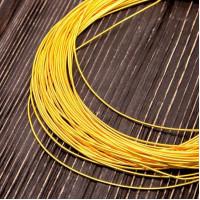 Канитель жесткая, 1 мм, желтое золото (5 гр)