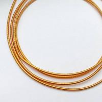 Канитель жесткая, 1,25 мм, оранжевая (5 гр)