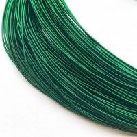 Канитель жесткая, 1 мм, темно-зеленая (5 гр)
