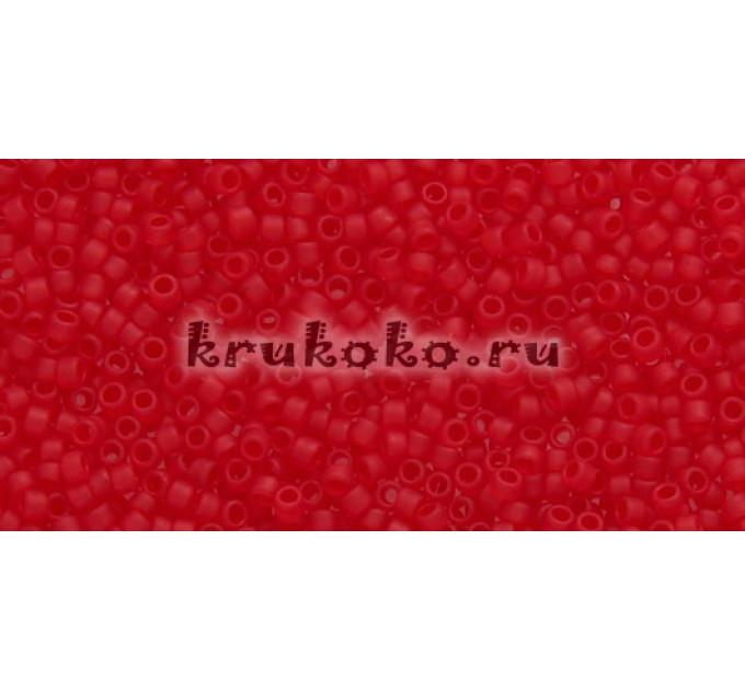 Бисер Toho 15/0 Прозрачный морозный рубин