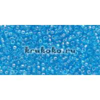 Бисер Toho 15/0 Прозрачный радужный темный аквамарин