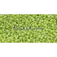 Бисер Toho 15/0 Непрозрачный радужный кислое яблоко (TR-15-404)