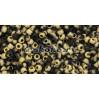 Бисер Cotobe 11/0 Black and Gold Mat (CTBJ055)