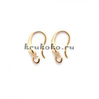 Швензы-крючки, 14х8мм, позолота16К (2 шт.)