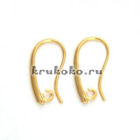 Швензы-крючки, 20х11мм, позолота16К (2 шт.)